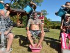 "Quenton Lillia, Emma Hunt, Dyon Hunt, Dave ""Monk"" Phare, Damon Lillia, Todd Bartlett and Alana Fors take part in an Ice Challenge to raise money for charity."
