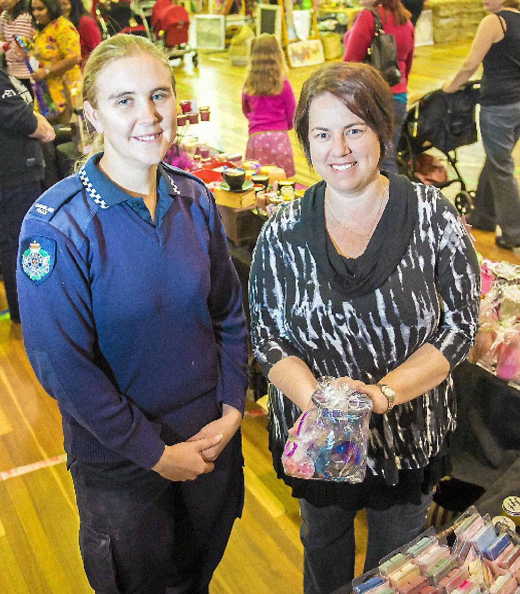 NEW EVENT: Constable Ken Avery and PCYC market coordinator Barbara Reid.