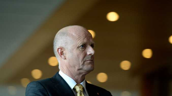 Senator David Leyonhjelm speaks during a press conference at Parliament House in Canberra, Thursday, July 10, 2014. The carbon tax repeal Bill was today voted down in the Senate.