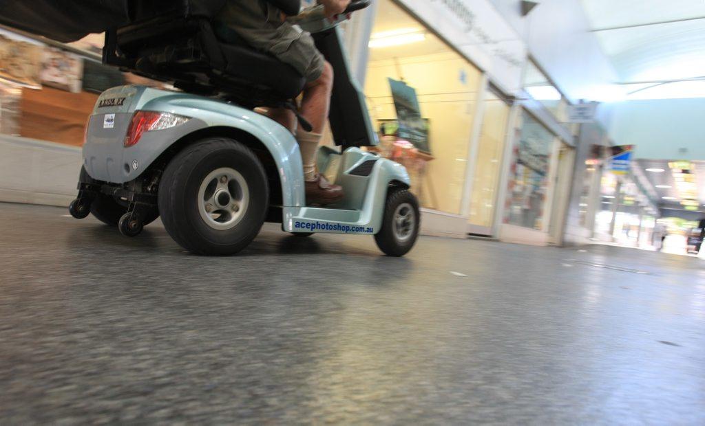 Scooter Rider in Ballina . Photo Blainey Woodham / The Northern Star
