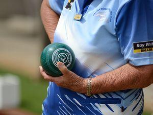 Rhonda Meng plays lawn bowls