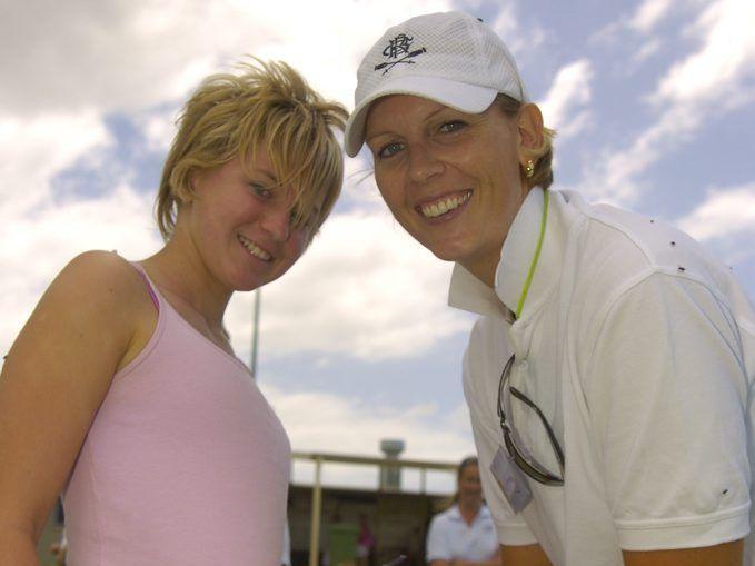 (Right) Australian netballer Catherine Cox