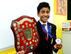 Banuka Ralapanawa, age 12 from Rockhampton Grammar School won the junior section of the Rostrom Voice of Youth speaking contest for Queensland. Photo Sharyn O'Neill / The Morning Bulletin