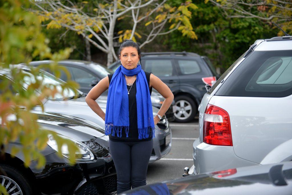 Chrystal Hutchinson had a recent bad parking experience. Photo: Warren Lynam / Sunshine Coast Daily