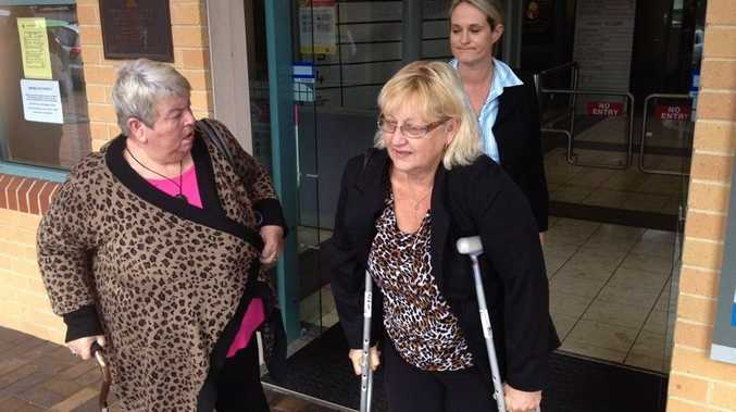 Janet Parkinson and Charli Darragh leaving Lismore Local Court.