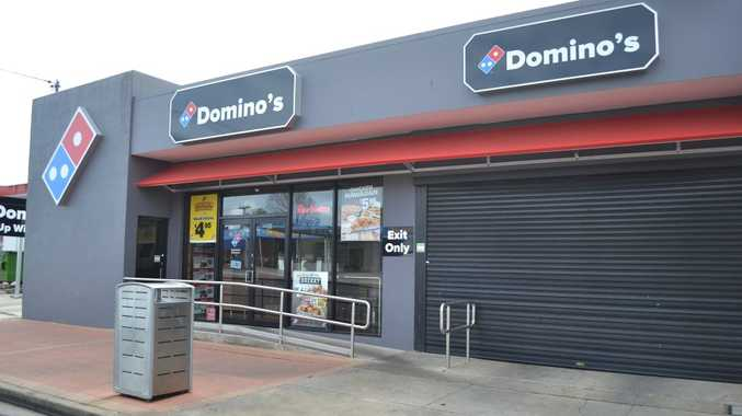 Domino's Pizza in Casino fell victim to an armed robbery last night.