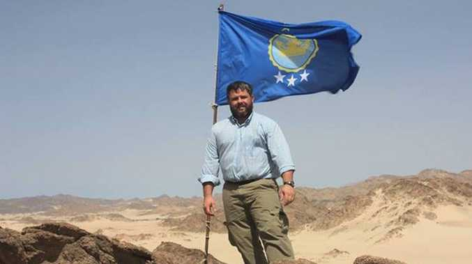 "Jeramiah Heaton at the ""Kingdom of North Sudan""."