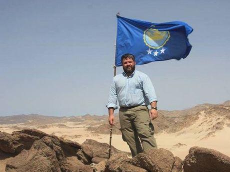 "Jeramiah Heaton at the ""Kingdom of North Sudan""."