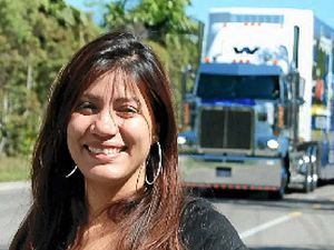 Crowds cheer on truck convoy