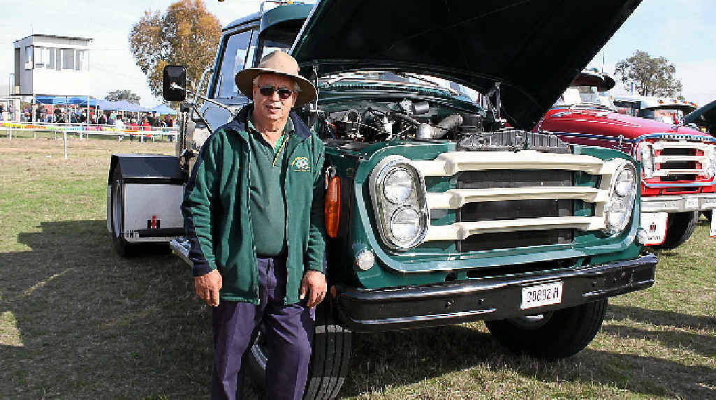 GOLDEN OLDIE: John Howey from Dubbo with his 1963 International which will be at the Dubbo Vintage Truck and Tractor Show this year on August 9 at the Dubbo Showgrounds.