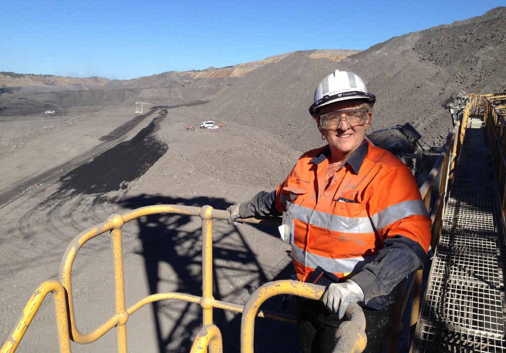 FIFO MOVES: Michelle Landry MP inspects BMA's Peaks Downs mine near Moranbah.