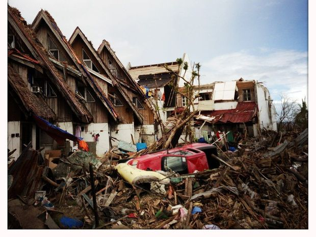 The devastated city of Tacloban in the Philippines, Wednesday Dec. 4, 2013.