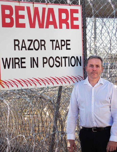 VISIT: Sean Choat stands outside Borallon prison.