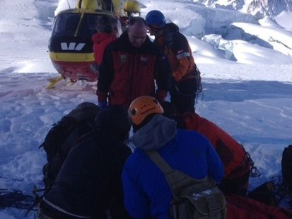 Special forces soldiers could not revive their mate, who fell down a crevasse.