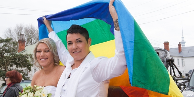New Zealand's first gay couple to be legally wed, Melissa Ray (left) and Natasha Vitali, are thought to have parted.