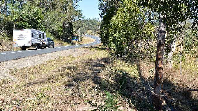 FATAL: The crash scene near Kandanga where a young Cootharaba man lost his life on Thursday night.