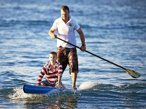 Paddler stands tall for cancer - on a 1000km trip