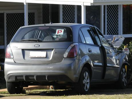 The crash that almost killed a young Toowoomba woman.