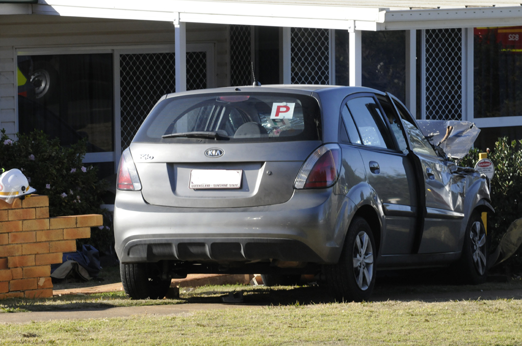 The 18-year-old driver of this vehicle has been airlifted to Brisbane in a critical condition.