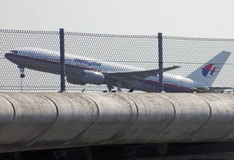 Malaysia Airlines flight MH17 takes off from Schiphol airport near Amsterdam