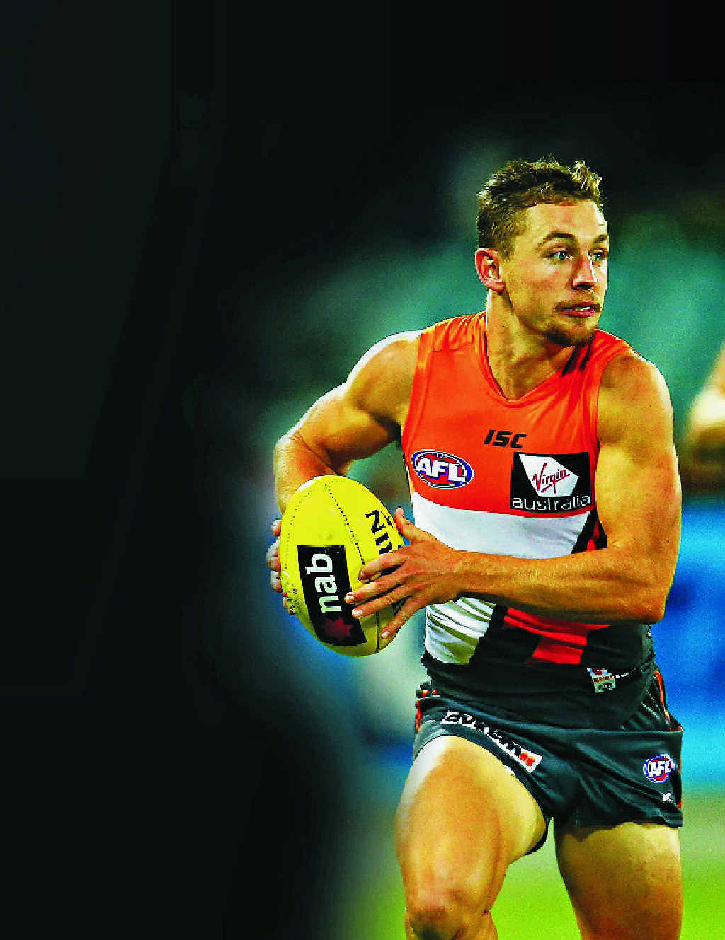 BRIGHT SPARK: Devon Smith in action for GWS.
