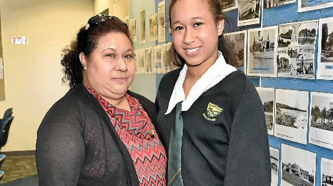 Year 11 student Samantha Ballinger with her mum, Asi.