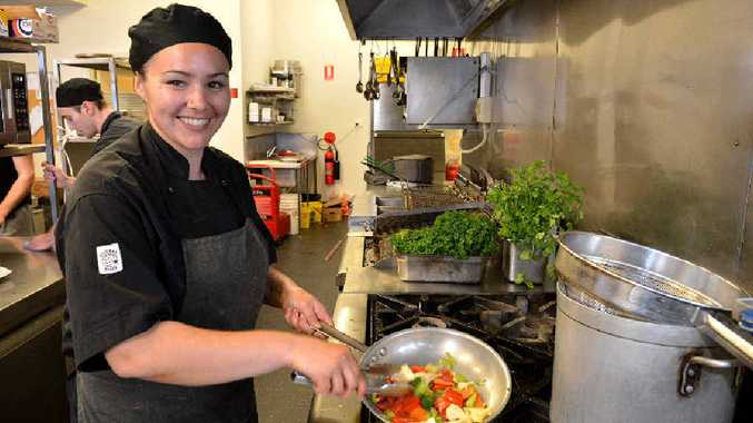 THANK YOU: The Royal head chef Rebecca Fontana is thrilled Gympie has given the pub a big thumbs up for a feed.