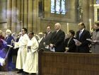 From right: New South Wales Governor Marie Bashir, Margie Abbott, Australia's Prime Minister Tony Abbott, Lady Lynne Cosgrove and Governor General Sir Peter Cosgrove attend a mass at St. Mary's Cathedral commemorating victims of Malaysia Airlines Flight 17, in Sydney, Australia, Sunday, July 20, 2014.