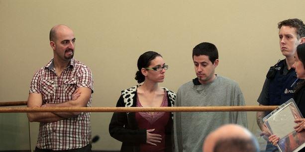 Ivan Casal-Carmona, Cristina Guerrero-Nieto and David Beltran-Velez at Manukau District Court.