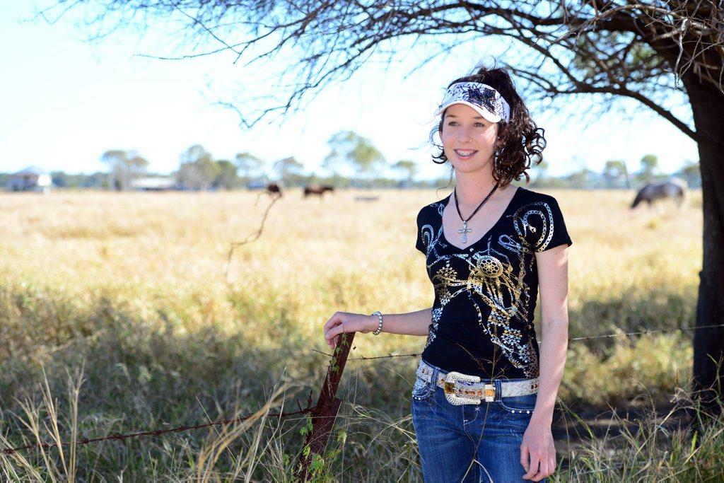 Zara Benjamin models clothing from CC's Tack Shak. Photo Sharyn O'Neill / The Morning Bulletin