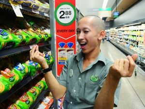 His name is Ed, he works at Woolies, and we love him
