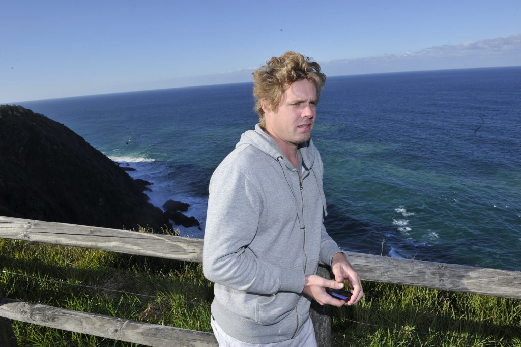 Julien Ventalon, of Brisbane, saw the surfers get into trouble and alerted the authorities at 10:45am.