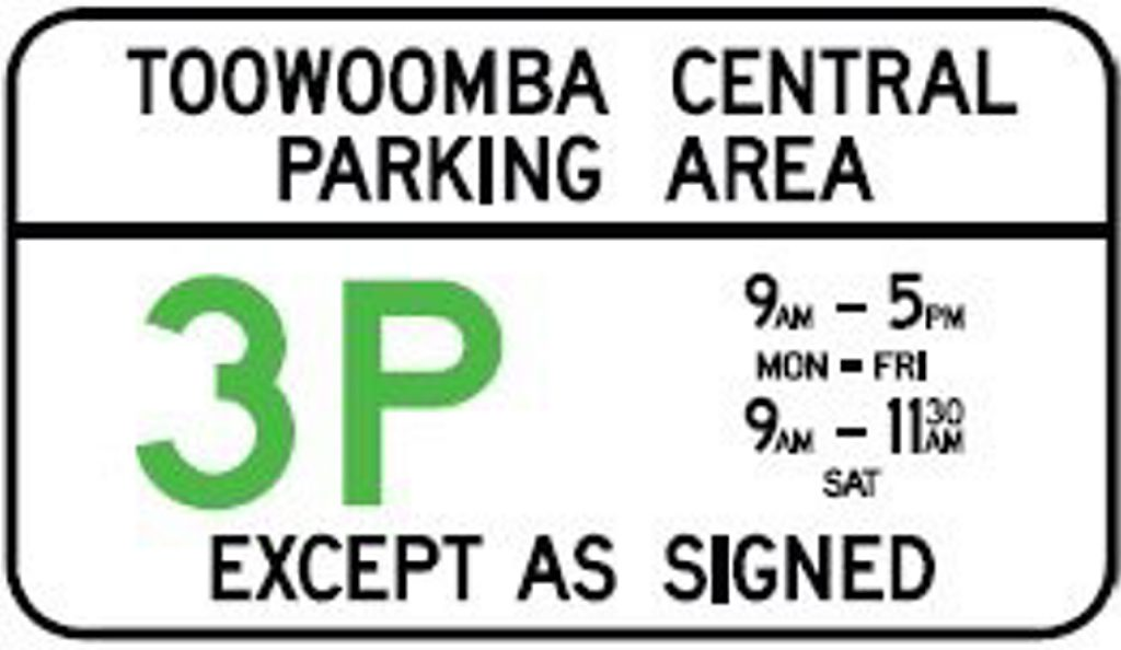 The three-hour parking laws apply on weekdays and Saturday mornings.