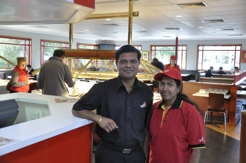 New Kearneys Spring Pizza Hut Franchisees Prabu and Kavitha Kannan Photo Nick Houghton / The Chronicle