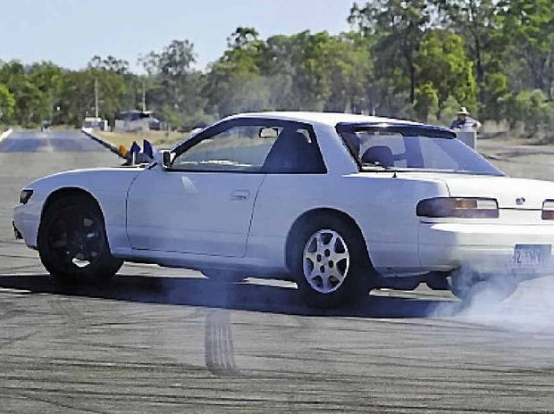 Kevin Minter in action at Suunday's Central Coast Car Club Motorkhana.