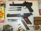 Images released of weaponry seized in raid on Rebel bikies