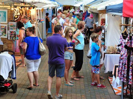Eumundi Markets: (L-R) Photo Geoff Potter / Noosa News