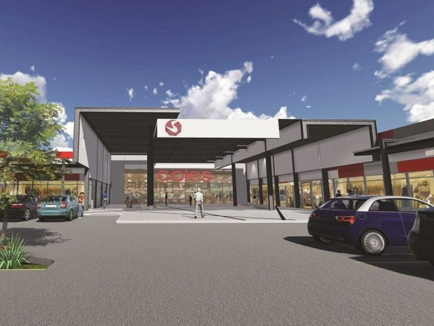 An artist impression of what the Coles Supermarket on Dean Street would look like.
