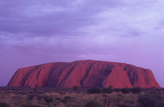 A tourist has spent the night on sacred landmark Uluru