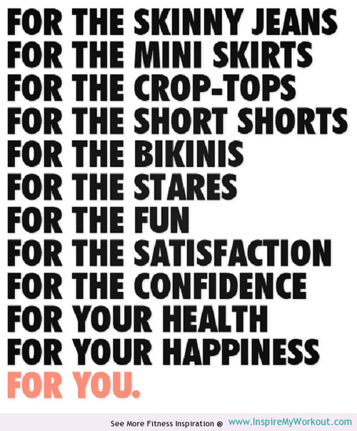 Fitspo. Mini skirts are higher on the list than health, apparently. Photo: www.inspiremyworkout.com.