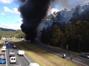 School bus fire on Sunshine Coast