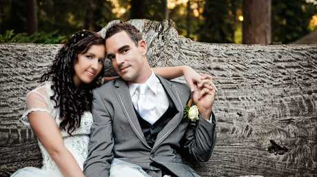 HAPPY COUPLE: Allison and Travers Fenn of Rosemount were married at the Forest Sanctuary in Tanawha.