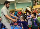 Playschool host Jay Laga'aia visited Ipswich Library to perform for a group of lucky children. Photo: David Nielsen / The Queensland Times