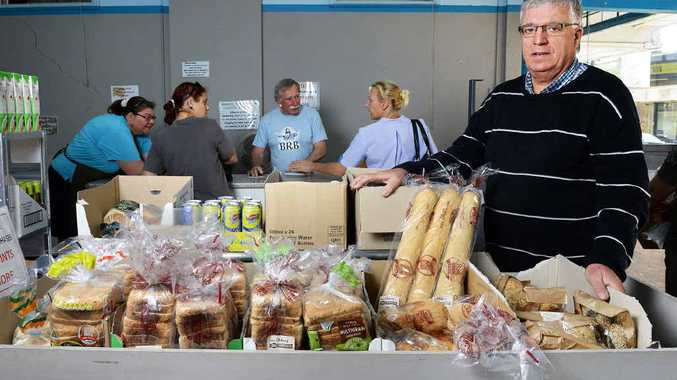 GOOD WORK: Pastor Fred Muys from the Ipswich Healthy Hampers co-op shop. The shop provides food to struggling families.