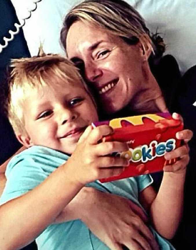 HUMBLED: Rachel Sihota with her son Navi, 5.