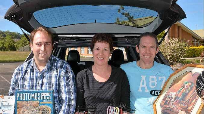SECOND CHANCE: Scott Wareham with Sharon and Michael Bertram.