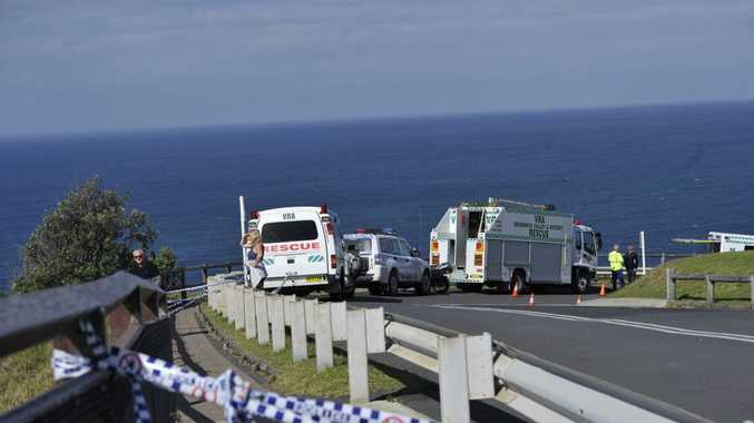 Police and other asscioated rescue services scour Cape Byron for any sign of the missing 19 year old Irish surfer who went missing in rough seas. Photo Marc Stapelberg / The Northern Star