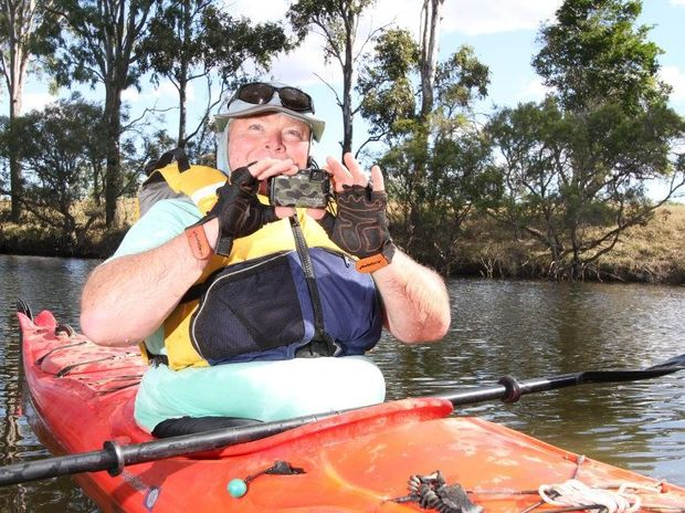 Photography competition winner Warwick Goddard on Hedlow Creek where he snapped his winning photo from his kayak. Photo: Chris Ison / The Morning Bulletin