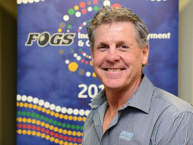Former origin great Gene Miles was in Rockhampton promoting the FOGS Indigenous Employment & Careers Expo. Photo Sharyn O'Neill / The Morning Bulletin