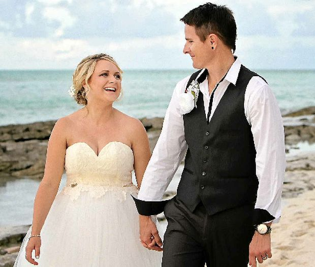 Danielle Atkinson and Michael Slow were joined by family and friends to celebrate their marriage on Heron Island in May.